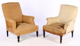 Pair French Napoleon Iii Club Chairs 1880