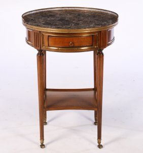 Labeled Directoire Style Gueridon Marble Top