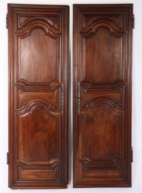 Pair Of French 19th C. Walnut Architectural Doors