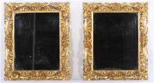 PR RELIEF CARVED GILT WOOD ITALIAN MIRRORS C.1900