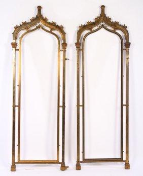 Pair Gothic Style Bronze Frames Circa 1900