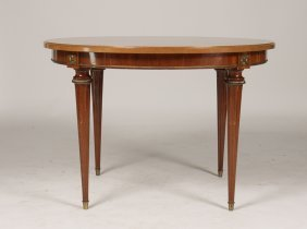 Round Directoire Style Mahogany Games Table 1940