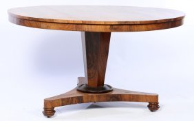 19th C. Continental Rosewood Tilt Top Table