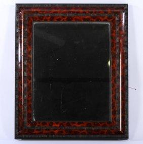 Ebonized Faux Tortoise Shell Mirror C.1930