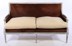 Louis Xvi Style Upholstered Decorated Settee 1940