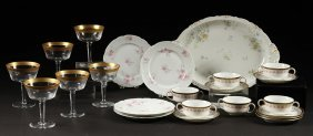 28 Porcelain & Glass Lot 1950 Limoge Austrian