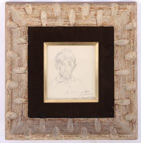 Raphael Soyer Pencil Drawing Signed Dated 1964