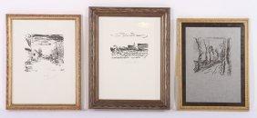 Maurice De Vlaminck 3 Signed Lithographs On Paper