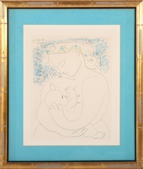 "Pablo Picasso ""mother & Child"" Lithograph 1963"