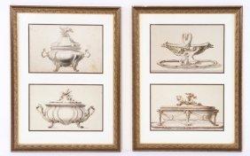 Pair Lithograhs In Colous Sevres Style Studies