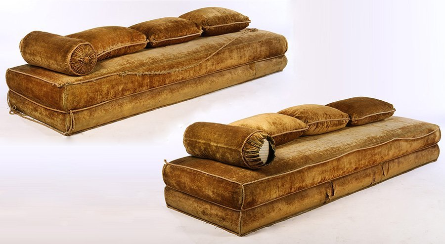 PAIR OF TURKISH STYLE VELVET COUCHES 1890