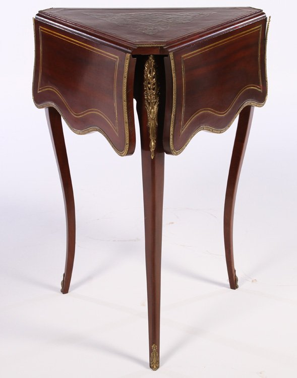 EARLY 20TH C. LOUIS XV BOULLE HANDKERCHIEF TABLE
