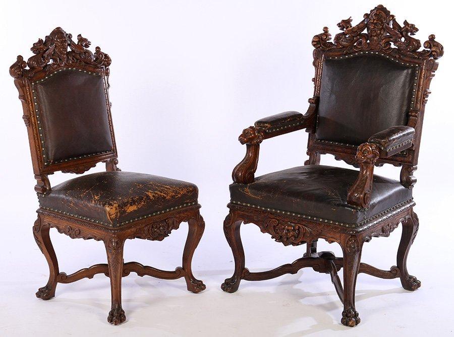 18 Oak Griffin Chairs Daniel Pabst Artistic Houses