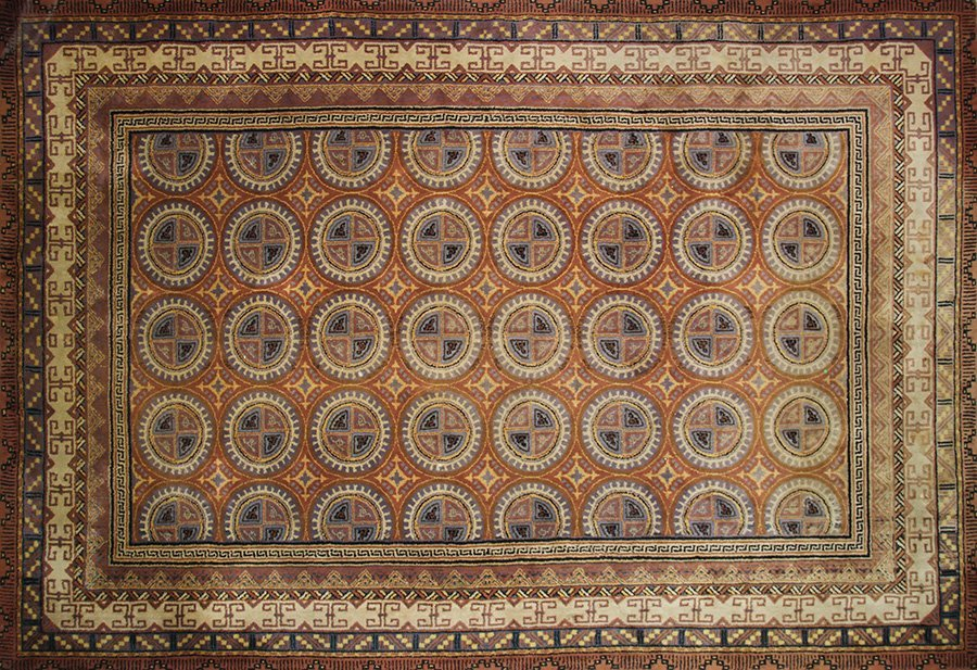 """EUROPEAN HAND-KNOTTED CARPET 13' X 19'6"""""""