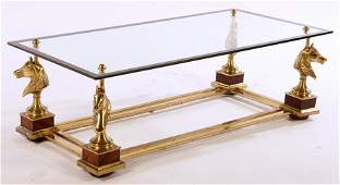 FRENCH GLASS COFFEE TABLE MAISON CHARLES 1950