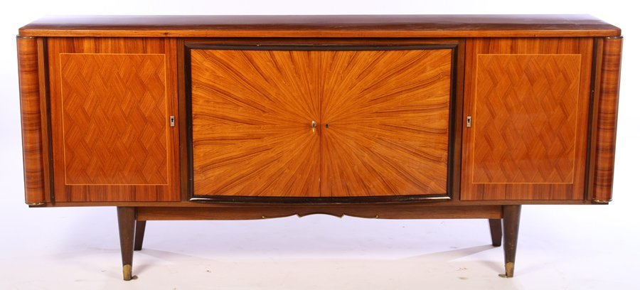 EARLY 20TH C. FRENCH ART DECO SIDEBOARD PARQUETRY