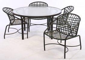 Five Pc Lot Brown Jordan Garden Furniture