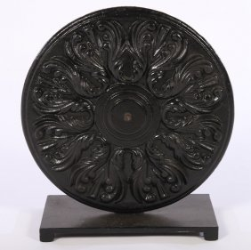 Cast Iron Architectural Roundel Mounted 1900