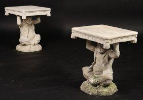 Cast Stone Garden Seats Blackamoor Style