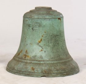 19th C. French Bronze Bels Inscribed Lepaute
