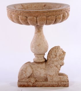 Rosa Verona Marble Garden Urn Lobed Bowl