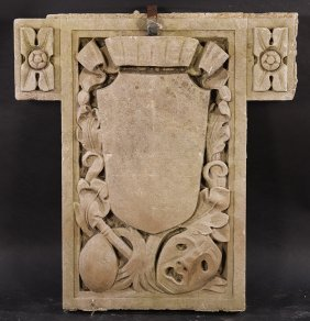 Carved Stone Architectural Element 1900