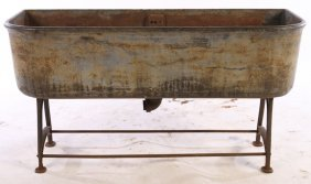 19th Cent. Labeled Cast Iron Garden Trough