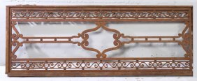 Art Deco Iron Panel Circa 1930