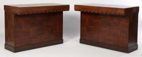 Pair Art Deco Mahogany Store Counters 1935