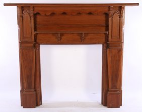 19th Cent. Chestnut Fireplace Mantle