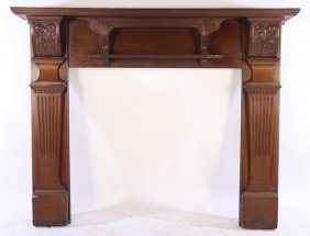 Victorian Mahogany Fireplace Mant