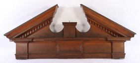 Large Architectural Carved Wood Pediment C.1900