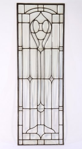 Leaded And Beveled Glass Door Panel 1910