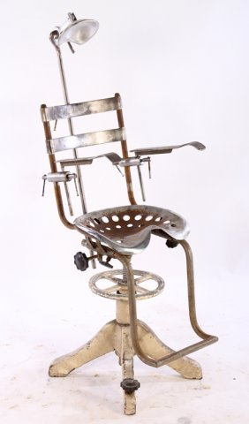 Adjustable Iron Dental Chair Head Rest 1900