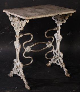 Art Nouveau Cast Iron Garden Table C.1910