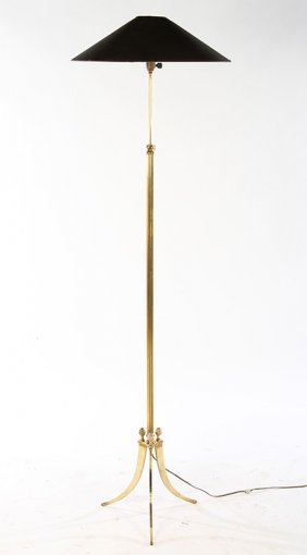 Adjustable French Bronze Floor Lamp 1950