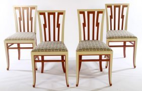 Four Arts & Crafts Style Side Chairs