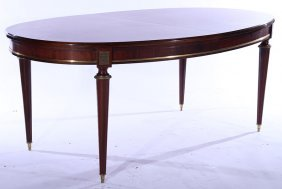 Bronze Mounted Oval Mahogany Dining Table 1940