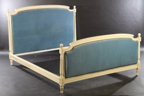 French Louis Xvi Style Queen Size Bed C. 1950