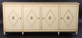Four Door Painted French Bronze Sideboard 1950
