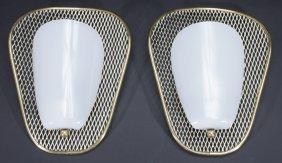 Pair Italian Mid Century Modern Sconces