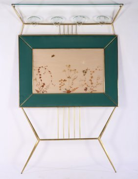Brass Glass Hat Coak Rack Fontana Arte 1950