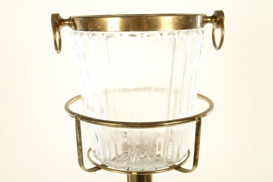 COMMERCIAL QUALITY BRASS TABLESIDE BUCKET & STAND - 2