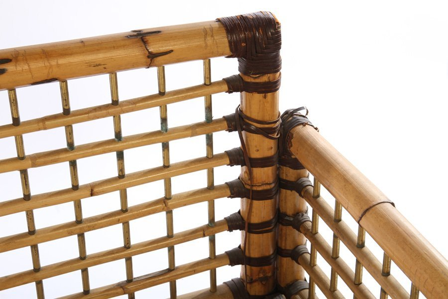 FRENCH BAMBOO SOFA BRASS PLATED 1960 - 4