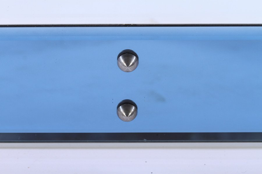 PAIR OF TWO COLORED BEVELED GLASS MIRRORS - 4