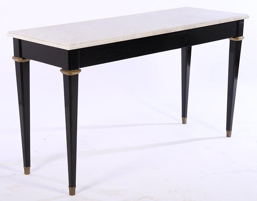 JANSEN EBONIZED BRONZE MOUNTED CONSOLE TABLE 1940