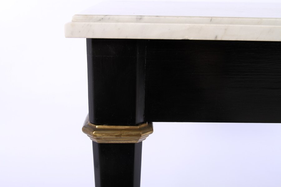 JANSEN EBONIZED BRONZE MOUNTED CONSOLE TABLE 1940 - 4