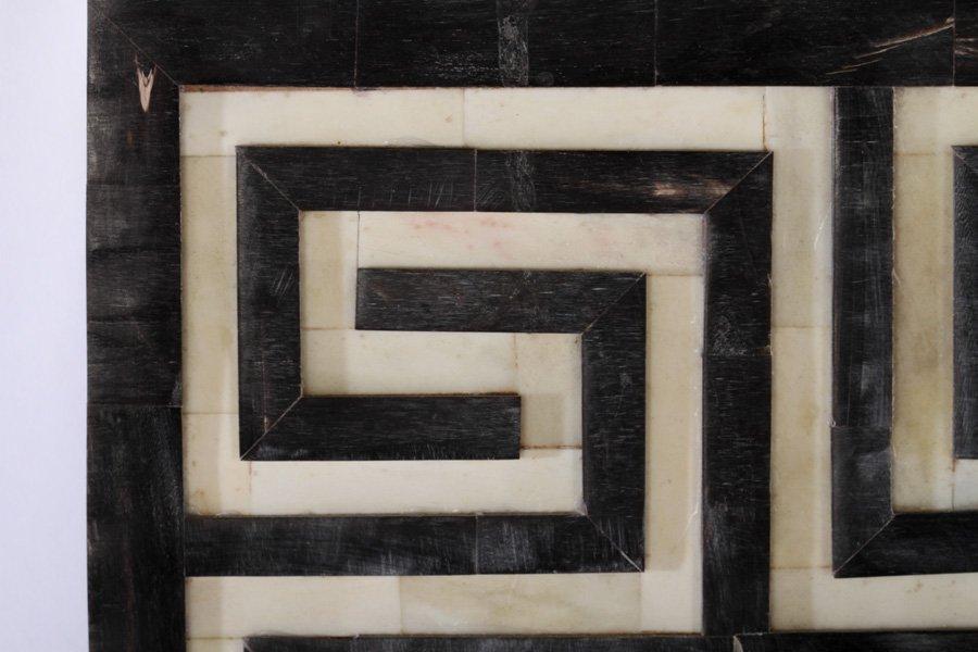 TESSELLATED MIRROR GREEK KEY DECORATED FRAME - 3