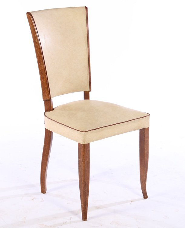 SET 6 FRENCH MID CENTURY DINING CHAIRS 1950 - 2