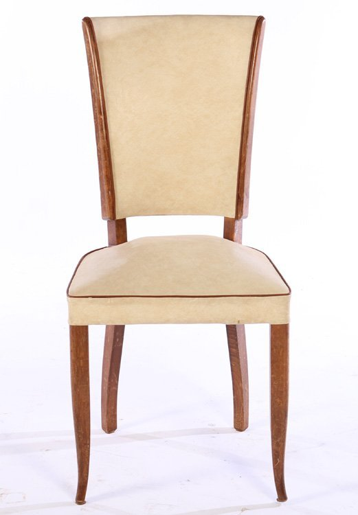 SET 6 FRENCH MID CENTURY DINING CHAIRS 1950 - 3